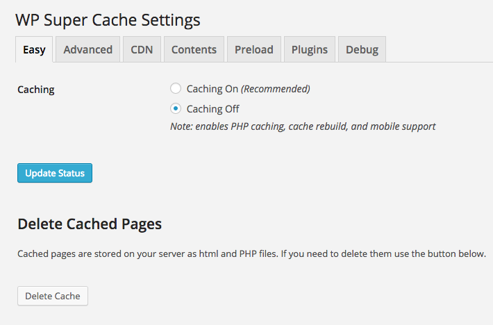Install And Setup Wp Super Cache